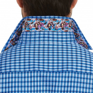 Mens Robert Graham Colan Woven Button Down in Blue - Brother's on the Boulevard