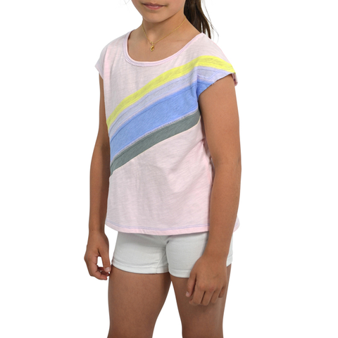 Girls Splendid Girls Rainbow Top in Multi