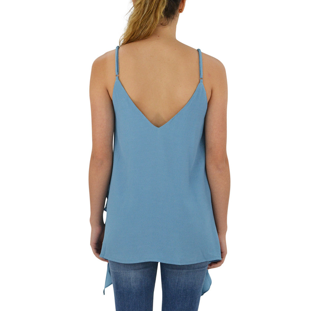 Womens Elliatt Rapture Cami Tank in Steel Blue - Brother's on the Boulevard