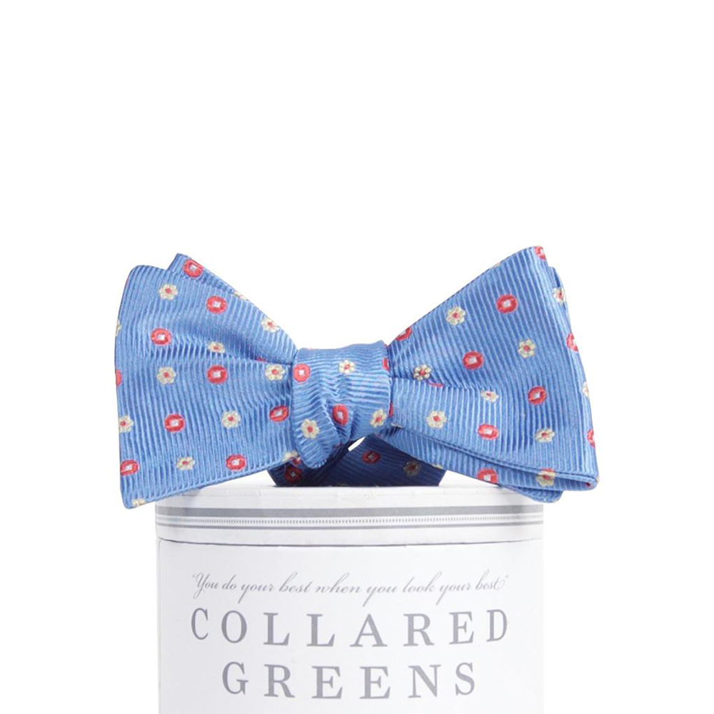 Collared Greens Redford Bow Tie in Blue