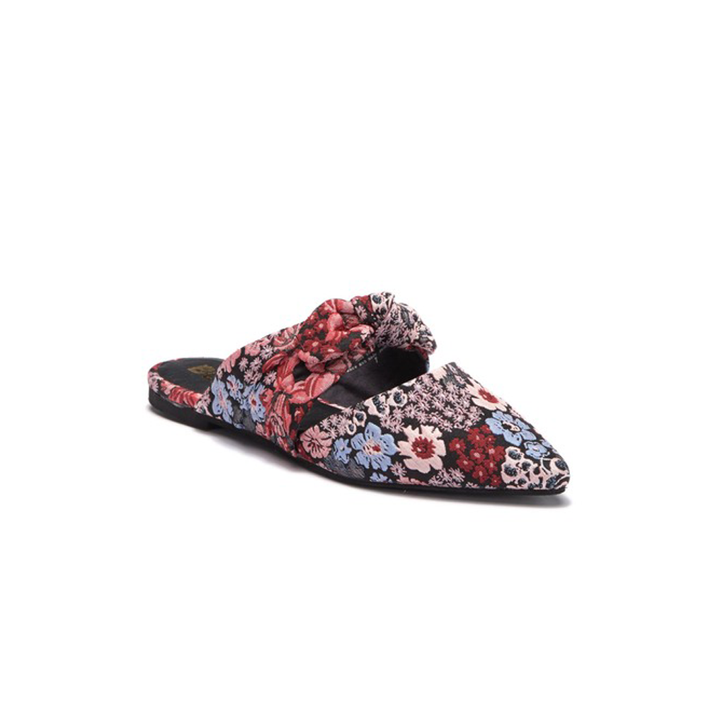 Womens BC Footwear by Seychelles Quarter Tie Top Mule in Black Floral - Brother's on the Boulevard