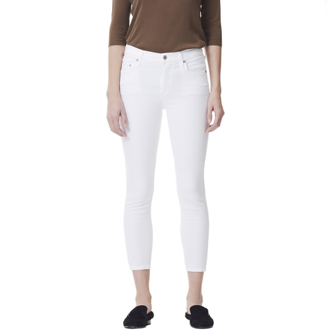 Womens Citizens of Humanity Rocket Crop High Rise Skinny In Sculpt White - Brother's on the Boulevard