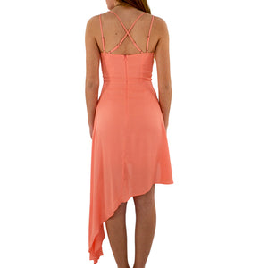 Womens Shilla Romance Grecian Dress in Coral - Brother's on the Boulevard