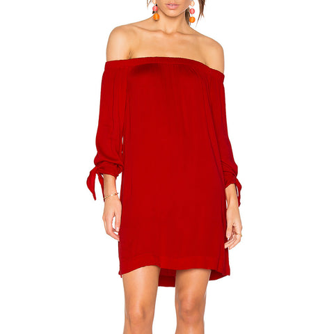 Michael Stars Tie Sleeve Dress in Blaze