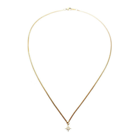 Womens Five and Two Rowan Necklace in Brass - Brother's on the Boulevard