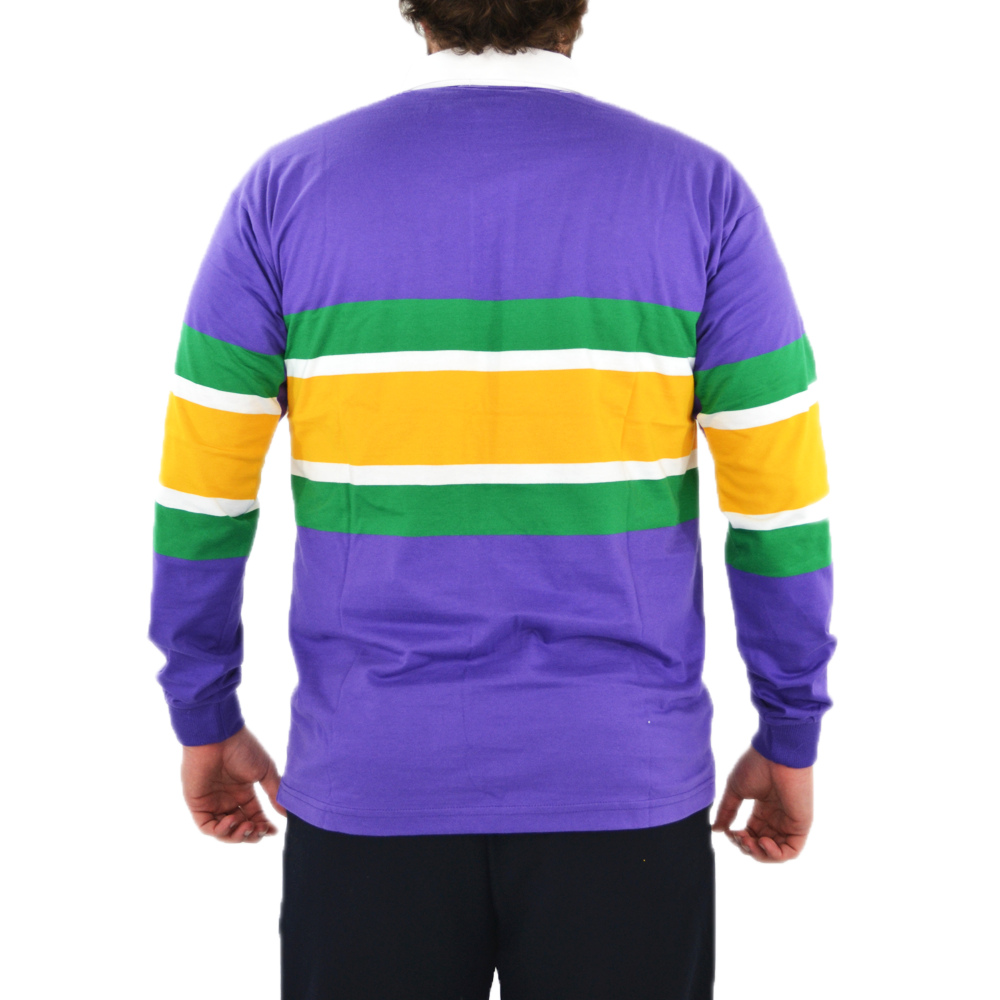 Mens Pelican Coast Mardi Gras Rugby Shirt In Purple - Brother's on the Boulevard