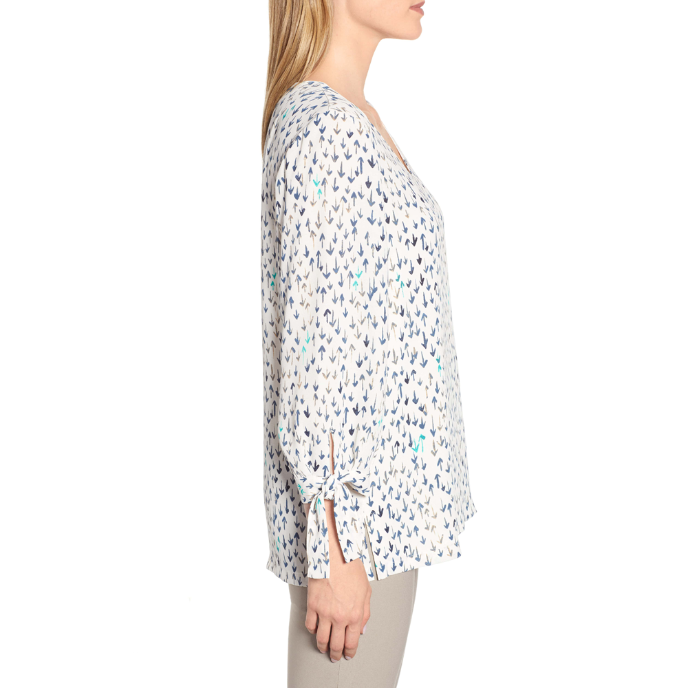 Womens Nic + Zoe Coming and Going Blouse in Multi White - Brother's on the Boulevard