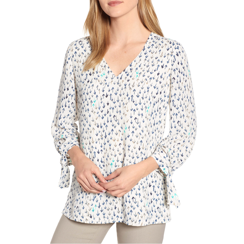 Nic + Zoe Coming and Going Blouse in Multi White