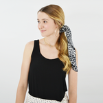 Womens Rouge Leopard Neckerchief in Black - Brother's on the Boulevard
