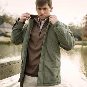 Mens Southern Marsh Station Canvas Jacket in Olive - Brother's on the Boulevard