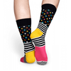 Mens Happy Socks Stripe Dot Socks in Pink and Multicolor - Brother's on the Boulevard