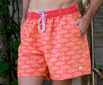 Southern Marsh School's Out Dockside Swim Trunk in Strawberry Fizz and Tangerine