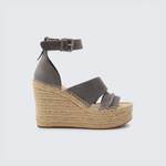 Womens Dolce Vita Simi Two Strap Wedge in Smoke - Brother's on the Boulevard