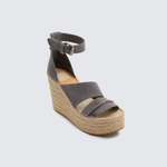 Dolce Vita Simi Two Strap Wedge in Smoke