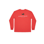 Mens Southern Marsh Authentic Long Sleeve in Red/Black - Brother's on the Boulevard