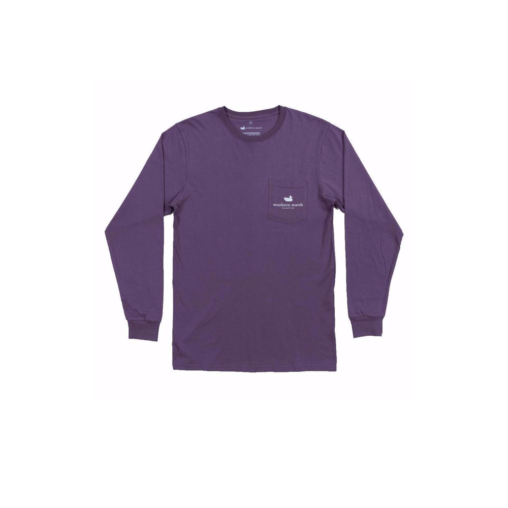 Mens Southern Marsh Louisiana Backroads Long Sleeve Tee in Iris - Brother's on the Boulevard