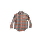 Southern Marsh Youth Ocoee Washed Plaid Button Down in Brown and Green