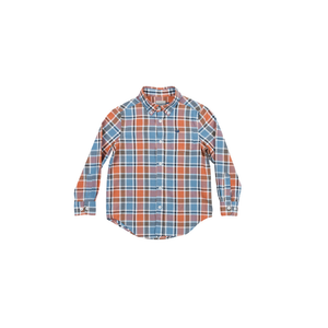 Boys Southern Marsh Youth Ocoee Washed Plaid Button Down in Slate and Bisque - Brother's on the Boulevard