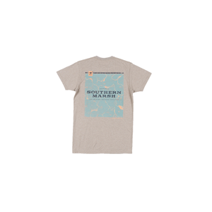 Boys Southern Marsh Youth Origins Elevation Tee in Washed Burnt Taupe - Brother's on the Boulevard