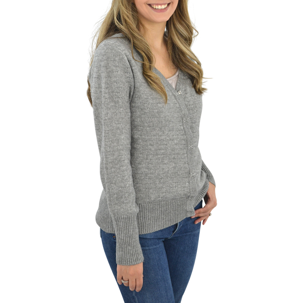Womens Michael Stars Four Way Wear Reversible Cardigan in Heather Grey - Brother's on the Boulevard