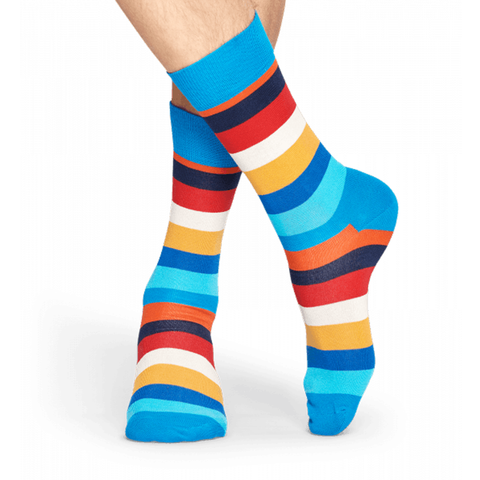Mens Happy Socks Stripe in Blue - Brother's on the Boulevard
