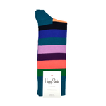 Happy Socks Stripe Pattern in Green, Orange, and Pink