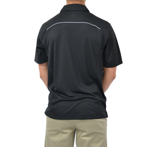 Cutter & Buck CB DryTec Foss Hybrid Saints Polo in Black
