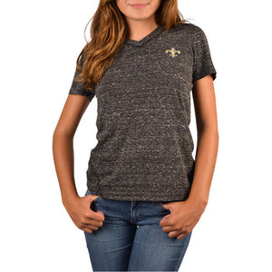 Womens Cutter & Buck New Orleans Saints Magnolia V-Neck Tee - Brother's on the Boulevard