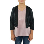 Miss Behave Girls Samantha Jacket in Black