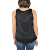 Womens Lilla P. Satin Scoop Neck Tank in Black - Brother's on the Boulevard
