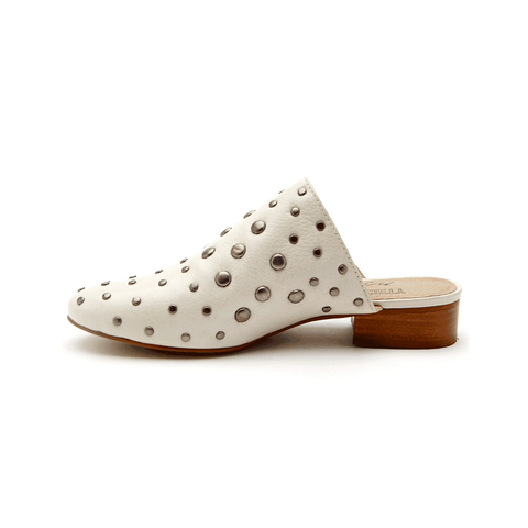 Women MATISSE SICILY FLAT MULE IVORY - SICILY-MATISSE-IVORY - Brother's on the Boulevard