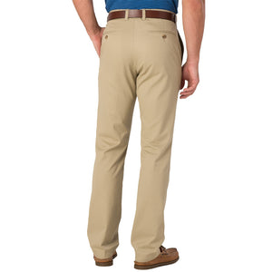 Mens Southern Tide Skipjack Classic Fit Pant With Unfinished Hem in Sandstone Khaki - Brother's on the Boulevard