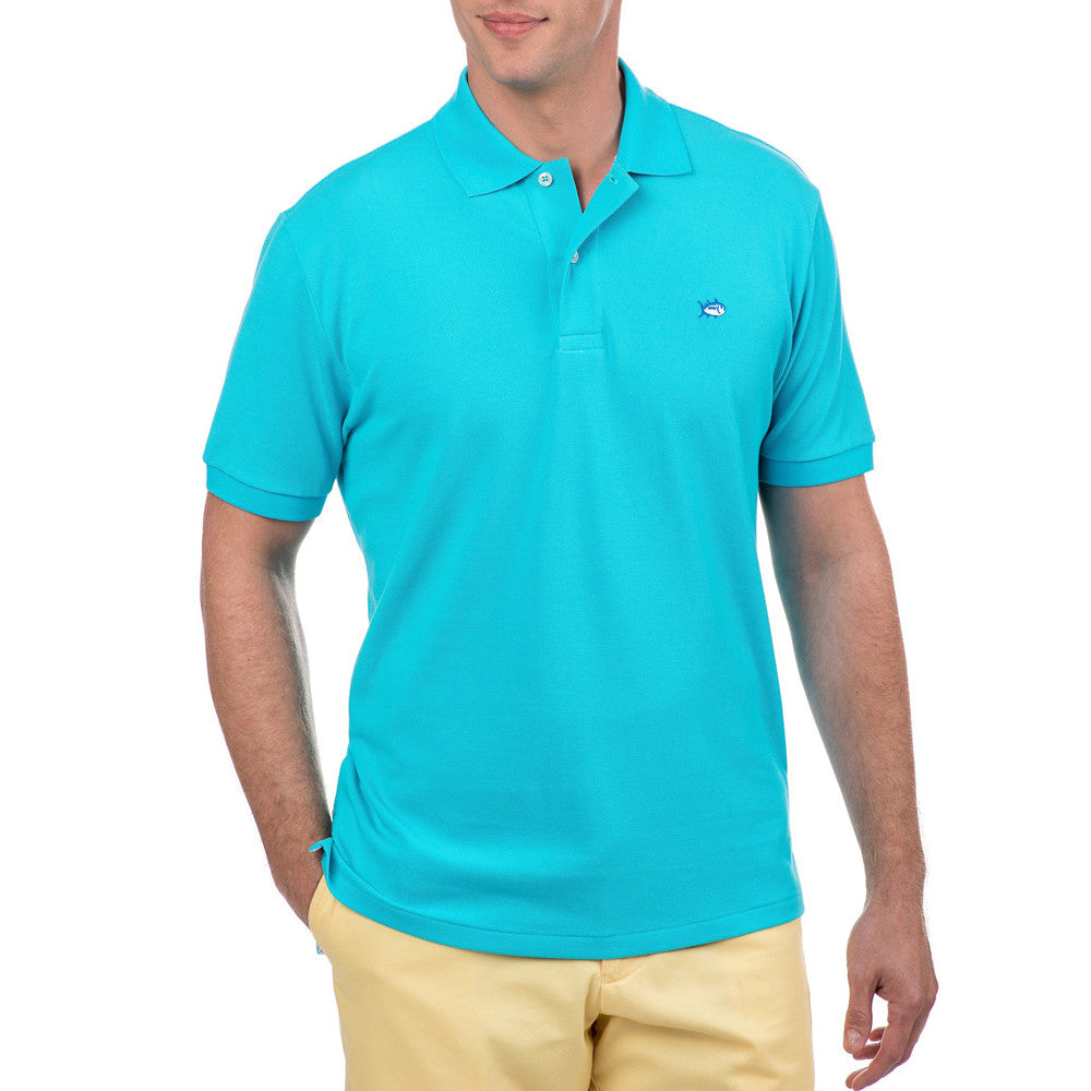 Mens Southern Tide Skipjack Polo in Scuba Blue - Brother's on the Boulevard