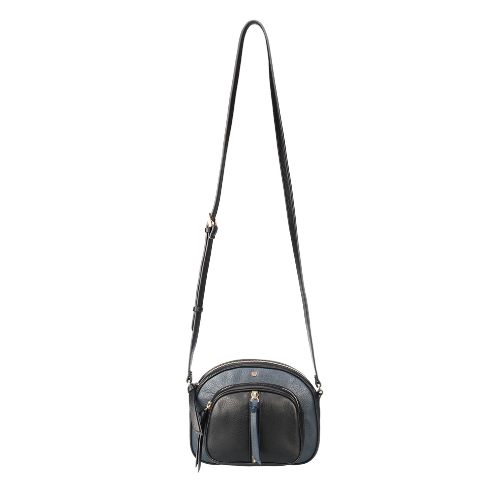 Womens Kelly Wynne Soco Crossbody in Navy/Black - Brother's on the Boulevard
