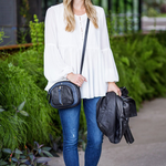 Kelly Wynne Soco Crossbody in Navy/Black