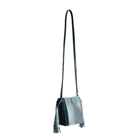 Kelly Wynne Sorry Not Sorry Satchel in Iridescent Slate