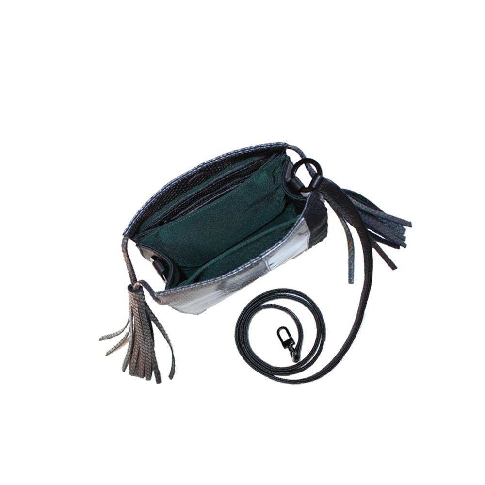 Womens Kelly Wynne Sorry Not Sorry Crossbody Bag in Iridescent Slate - Brother's on the Boulevard