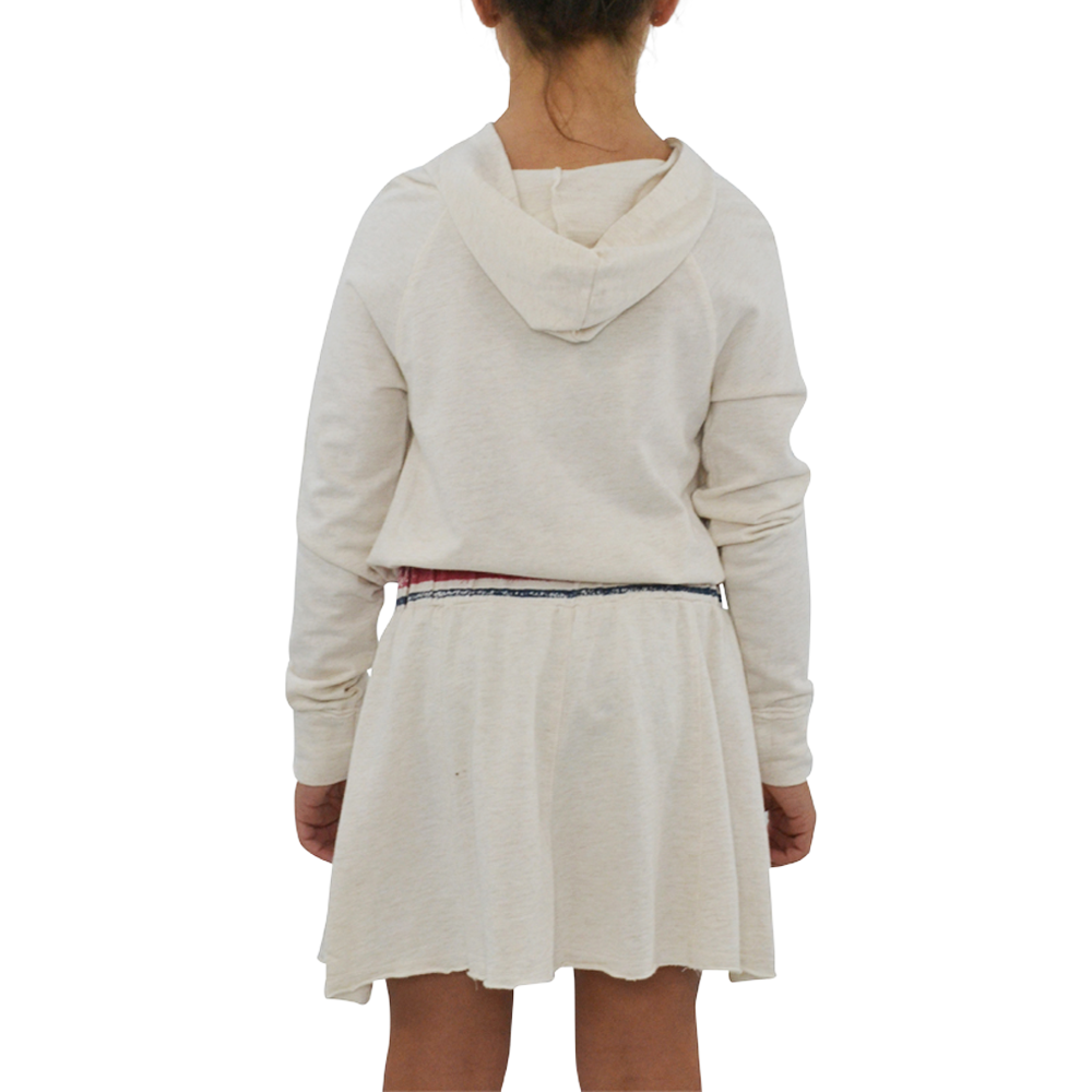 Tween Girls Splendid Girls Speckle Sweatshirt Dress in Oatmeal - Brother's on the Boulevard