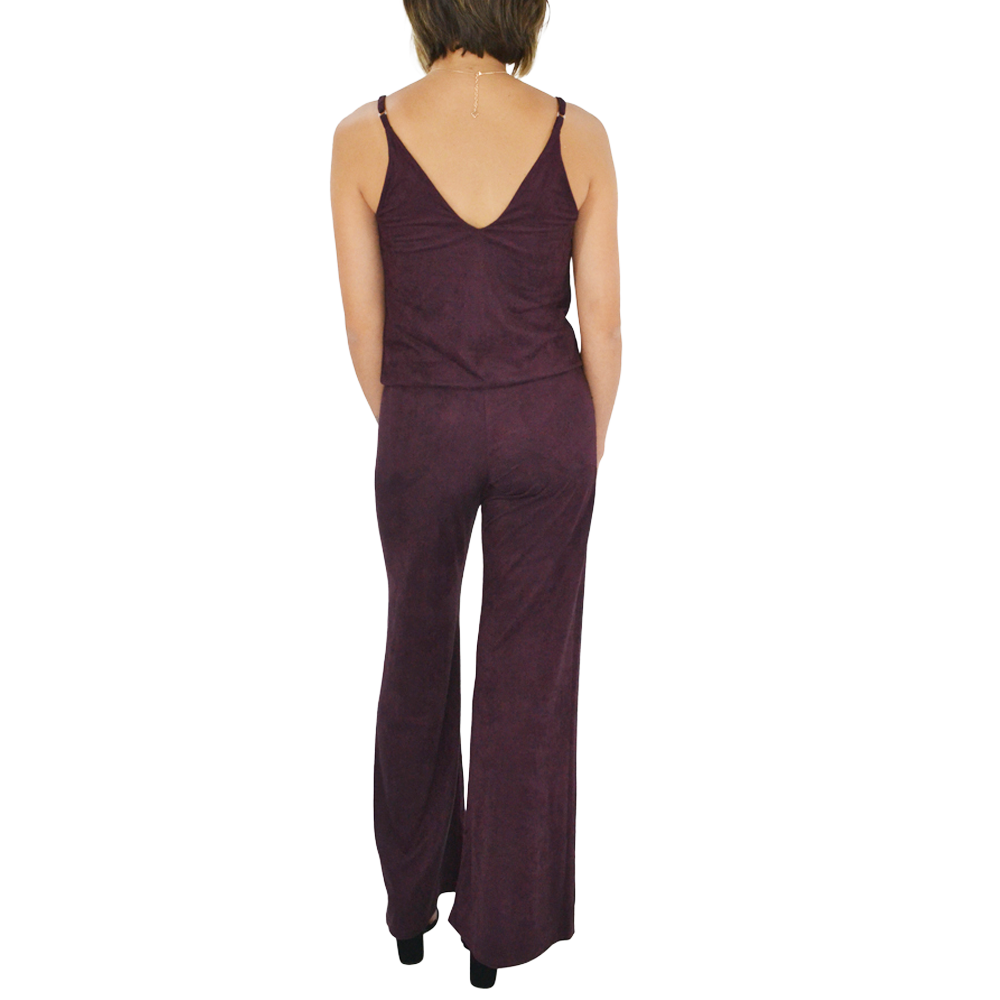 Womens Rouge Iverson Suede Jumpsuit In Eggplant - Brother's on the Boulevard