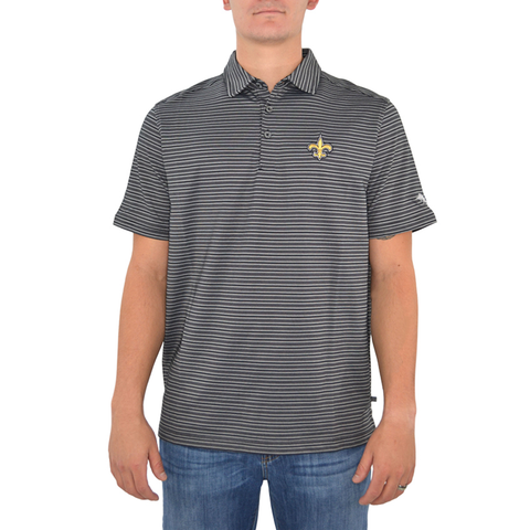 Mens Tommy Bahama New Orleans Saints Polo Rico Polo in Black - Brother's on the Boulevard