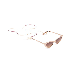 Womens DIFF Eyewear Tribe Alive Multi Tassel Sunglass Chain in Gold/Cream/Berry - Brother's on the Boulevard