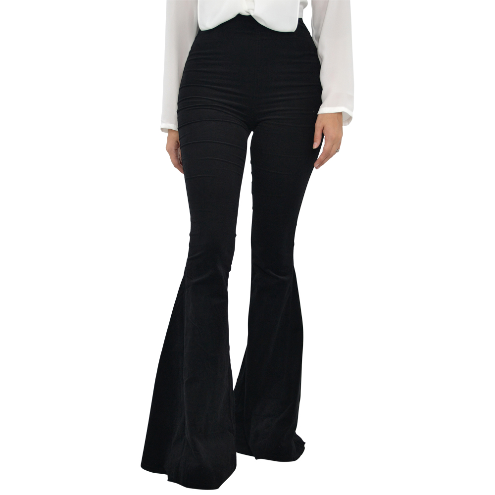Weekend Vibes Pull on Bell Bottom Pant in Black