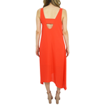 Womens Catherine Kate Cara Hi Low Midi Dress in Orange - Brother's on the Boulevard