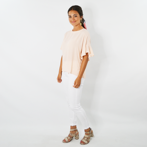 Womens Three Eighty Two Joss Ruffle Sleeve Blouse in Souffle - Brother's on the Boulevard