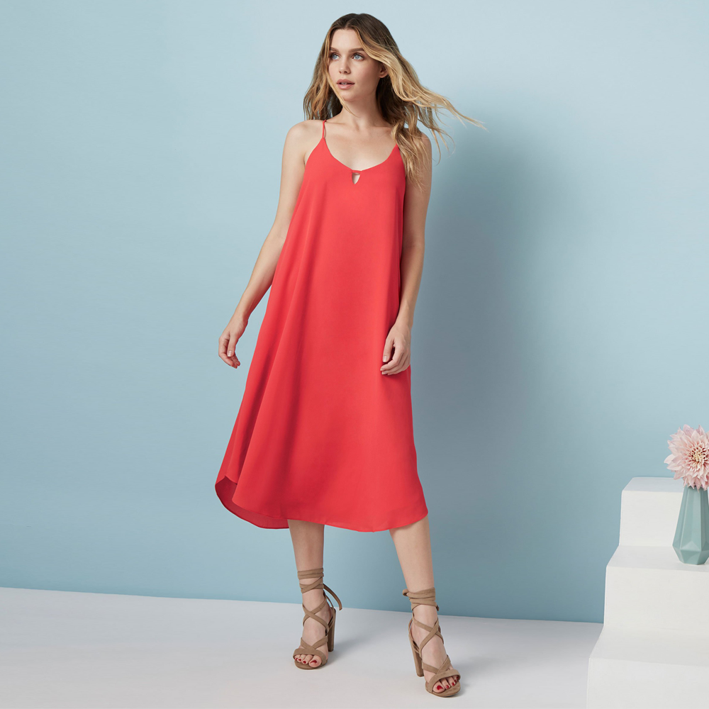 Catherine Kate Leilani Sleeveless Midi Dress in Rose Bud