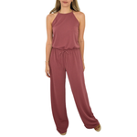 Womens Poche 1913 Emmy Halter Jumpsuit in Primrose - Brother's on the Boulevard