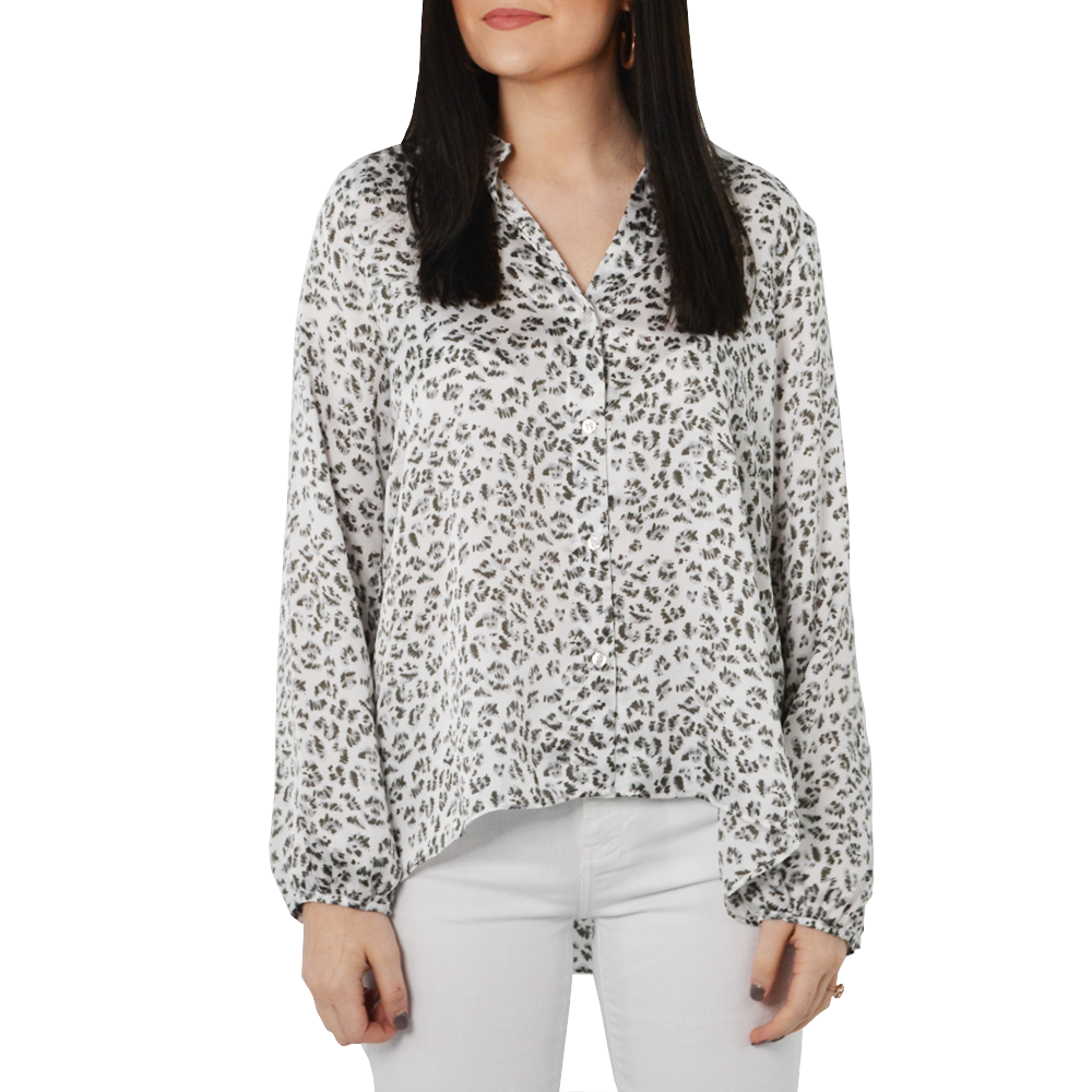 Womens Three Eighty Two Aurora Button Down Blouse in Leopard - Brother's on the Boulevard