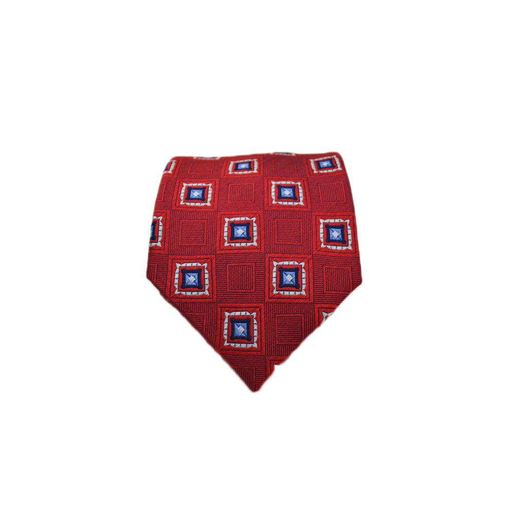 Mens Ancora Italy Neck Tie in Red Square - Brother's on the Boulevard