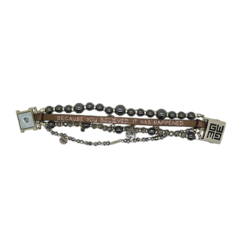 Womens Good Works Because You Believed Bracelet in Metallic - Brother's on the Boulevard