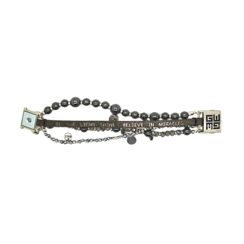 Womens Good Works Be The Light Bracelet in Silver - Brother's on the Boulevard